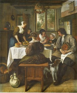 Jan Steen the prayer before the meal